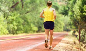 a man doing his regular running routine